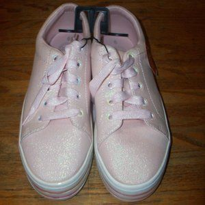 NWT Women's Size 6 Pink Sparkle Chunky Sneakers